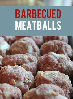 This is the BEST Barbecued Meatball recipe I've ever found. It's simple, makes a lot, freezes well, and is a crowd-pleaser. Part of a cool freezer cooking guide. Barbecue Meatball Recipes, Beef Recipes, Real Food Recipes, Great Recipes, Cooking Recipes, Favorite Recipes, Cooking App, Barbecue Sauce, Recipe Ideas