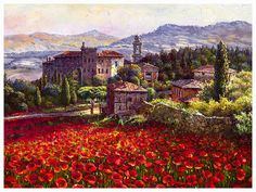 SAM PARK - SIENA SUN. Italy. Limited Edition Giclee on canvas.