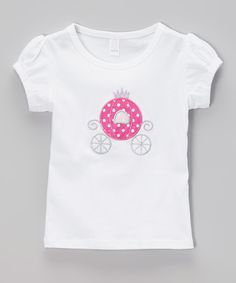 Look at this White Fairy Carriage Tee - Infant, Toddler