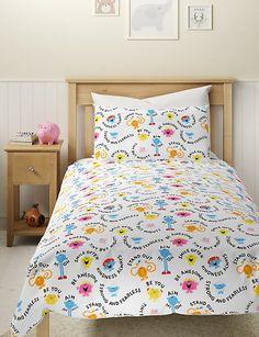 Pure Cotton Mr Men™ Bedding Set | M&S Mens Bedding Sets, Bedding Shop, Fresh Wash, Mr Men, Home Comforts, Cool Beds, Home Furnishings, Aim High, Duvet Covers