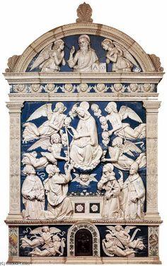 'Madonna della Cintola', terracotta di Andrea Della Robbia (1435-1526, Italy)