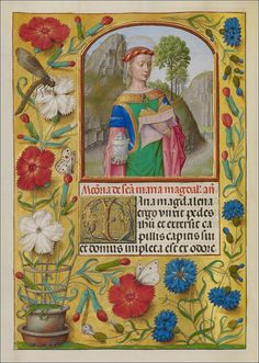 Workshop of the Master of the First Prayer Book of Maximilian, Mary Magdalene. From the Spinola Hours, Flanders, 1510 - 1520. Los Angeles, The J. Paul Getty Museum,  MS. LUDWIG IX 18, FOL. 264V