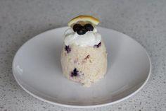 Healthy Lemon Blueberry Mug Cake (195 calories)