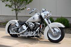 Flat Silver Paint   Harley Davidson Custom Painted