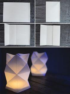 Linternas de papel con origami