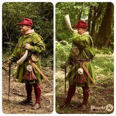 """""""Hunting set inspired by the famous Gaston Phoebus' 'Hunting Book' (1386) I made quite some time ago…"""""""