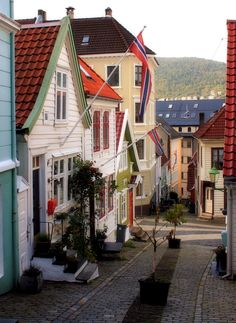 Bergen is among our favored cities in Norway It has all the beauty of Trondheim, the culture of Oslo, as well as the magic of Tromso, all covered into a very easy to absorb package that makes seein… La Provence France, Wonderful Places, Beautiful Places, Places Around The World, Around The Worlds, Places To Travel, Places To Visit, Beautiful Norway, Old Country Churches