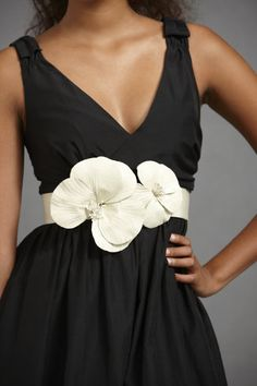 belt, something like this for a black and white wedding?