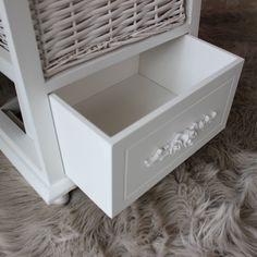lila range floral white  wicker basket storage unit: white storage unit wicker