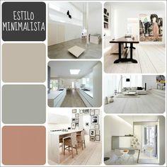 Pantone de estilos decorativos. Estilo minimalista. Style At Home, Minimalist Decor, Minimalist Design, Estilo Interior, Modern Color Schemes, Interior Minimalista, Colour Pallete, Bedroom Colors, Home Staging