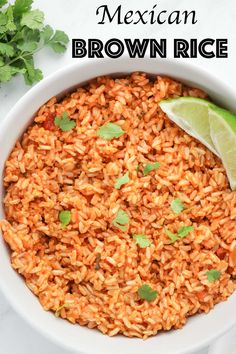 1 cup uncooked brown rice cups water Plus a couple of extra tablespoons as needed ½ cup salsa 1 teaspoon ground cumin ½ teaspoon salt optional fresh cilantro garnish Healthy Mexican Rice, Mexican Brown Rice, Healthy Rice Recipes, Mexican Rice Recipes, Vegan Dinner Recipes, Whole Food Recipes, Vegetarian Recipes, Cooking Recipes, Cooking Tips