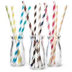 Just ordered some of these in champagne & navy for the Bubbly Bar.  People may not use them but awfully cute (and cheap):) Striped Paper Straws