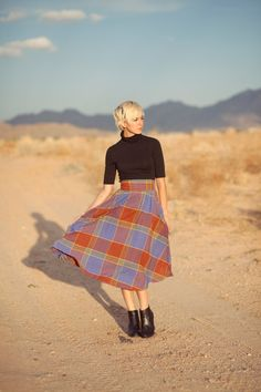 Big plaid, big style. #etsy #etsyfashion