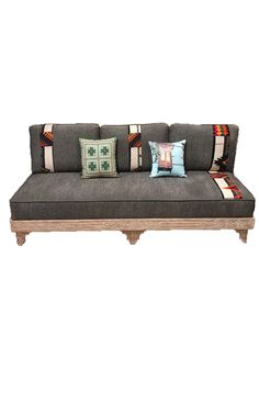 This simple but elegant Sofa Three Seater Custom Upholstered is the perfect piece for your living room. Order it according to your specifications today Outdoor Sofa, Outdoor Furniture, Outdoor Decor, Desert Design, Elegant Sofa, Three Seater Sofa, Custom Made Furniture, Arabesque, Interior Decorating