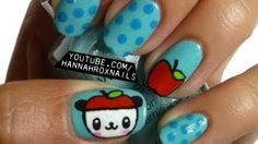 Cute Pandapple Nail Art