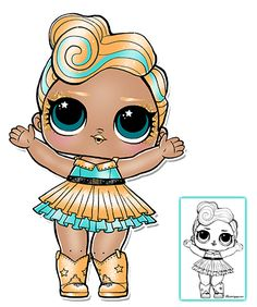 LOL Surprise Doll Coloring Pages – Page 7 – Color your favorite LOL Surprise Doll!