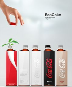 A more efficient Coca Cola bottle. fantastic design project and process, by Andrew Kim (Minimally Minimal). Brand Packaging, Packaging Design, Branding, E Mobility, Coca Cola Bottles, Creative Industries, Bottle Design, Graphic Design Typography, Minimal Design