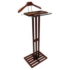 Found it at Wayfair - Kyoto Wardrobe Valet Stand in Mahogany