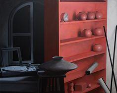 """""""turntable/1311"""" 80 x 100, acrylic on canvas, 2012"""