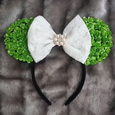 Tinkerbell / Peter pan inspired disney ears by shopdianacraft