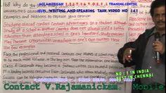 IELTS & TOEFL TRAINING IN CHENNAI -IELTS WRITING &SPEAKING TASK VIDEO136...