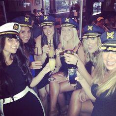 Sailor hats. Bachelorette party.