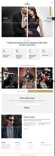 Template haute couture - site internet