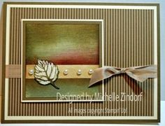 Not Just for Fall Leaf – Stampin' Up! Card Tutorial from Michelle Zindorf at Freedom in Creating Scrapbook Cards, Scrapbooking, Leaf Cards, Fall Cards, Holiday Cards, Embossed Cards, Thanksgiving Cards, Sympathy Cards, Greeting Cards