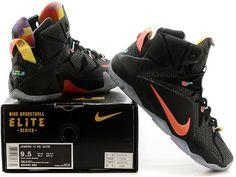 LeBron XII Black Orange Shoes1
