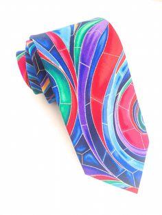 Wave Multi Coloured Tie  #VanBuck #Tie #NeckTie #Ties #Rainbow #Novelty #Colourful #Accessories #MensAccessories #Pattern #Art #FabTies #Wave  http://www.fabties.com/ties/novelty-ties/wave-multi-coloured-tie.html