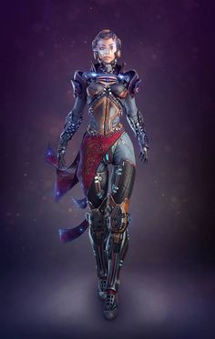 Mainly posting science fiction and fantasy stuff i find cool Arte Sci Fi, Cyberpunk Girl, Arte Cyberpunk, Futuristic Armour, Futuristic Art, Science Fiction, Sci Fi Kunst, Character Art, Character Inspiration