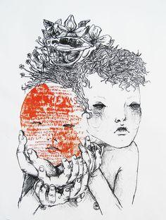 Beatrix by Helani Laisk aka sleepyfeet Cosmic, Indie, Doodles, Kid, Illustrations, Wall, Artist, Quotes, Child