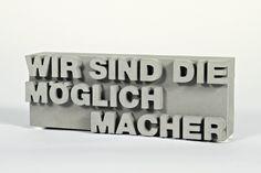 Buchstaben & Schriftzüge - Wir sind die Möglichmacher! - ein Designerstück von schoenpfeffer-invocem bei DaWanda