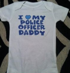 I+love+my+Police+Officer+Daddy+blue+words+for+BOY+by+Ilove2sparkle,+$8.99