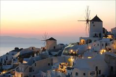ysvoice:    | ♕ | Afterglow at Oia- Santorini, Greece | by Marcel Germain