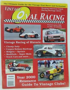 Vintage Oval Racing Magazine  Premiere Issue 2000 Indy Midget Sprint Stock Cars