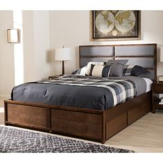 Ivy Bronx Fraser Upholstered Storage Platform Bed Size: King