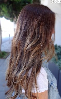Natural sunkissed style highlights