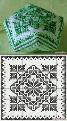 Inspirations Croche with Any Lucy: Square Biscornu Cross Stitch, Cross Stitch Charts, Cross Stitch Designs, Cross Stitch Embroidery, Cross Stitch Patterns, Filet Crochet Charts, Crochet Cross, Knitting Charts, Crochet Motif