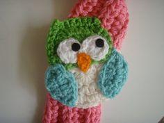 Crochet Owl Scarf Scarfette PATTERN PDF | Etsy Jessie, Owl Scarf, Silk Scarves, Colorful Pictures, Crochet Hats, Free, Etsy, Stitch, Pdf