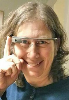 Between a Google Glass and a Hard Place | American Libraries Magazine - Jenny Levine, sporting Google Glass