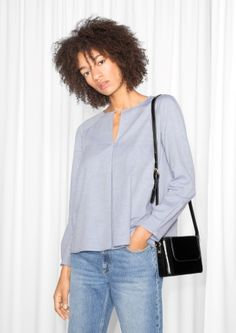 & Other Stories | Box Pleat Blouse