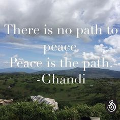 There is no path to peace. Peace is the path. -Ghandi . . . #Kenya #peace…