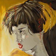 Unknown thought Original Livien Rózen Art, Painting (60x60 cm) Acrylic Painting Canvas, Creative Art, Thoughts, Portrait, Illustration, Artwork, The Creator, Anime, The Originals