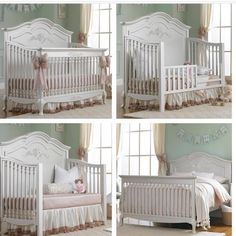 The Angelina Convertible Crib by Dolce Babi is gorgeous and smart!!! #crib #nursery #convertible #nursery #design #beautiful #baby #posh #poshtots
