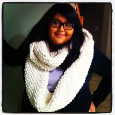 My first knitting project = done! Simple K1P1 in the round makes for amazing cowl scarf just in time for winter!