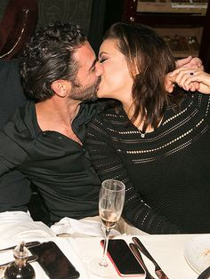 88d81b64ca3b Eva Longoria and Fiancé Jose Antonio Baston Share Adorable Kisses at  Engagement Party