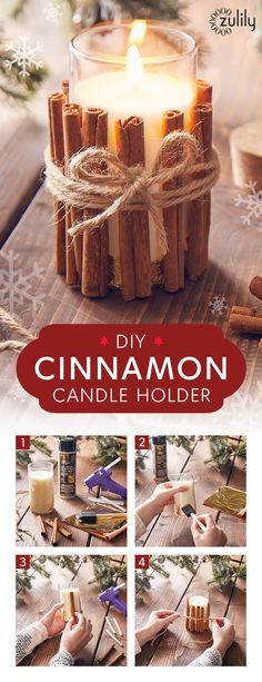 Holiday How-To: Cinnamon Candle Decoration