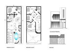 Casa pequeña de 2 niveles con tan solo 90 m2 | Planos de Casas