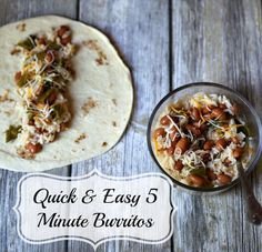 Quick & Easy 5 Minute Burritos recipe   www.jennsblahblahblog.com   @jenblahblahblog